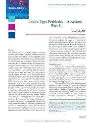 Inulin-Type Prebiotics – A Review: Part 1 - Alternative Medicine ...