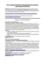 Vorlesungsverzeichnis Soziologie Sommersemester 2010 ... - LMU