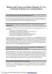 Häufig gestellte Fragen zum Studium Pädagogik, M.A. als 2 ... - LMU