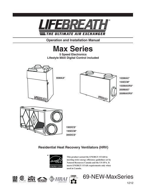 Max Series Manual LIFEBREATH