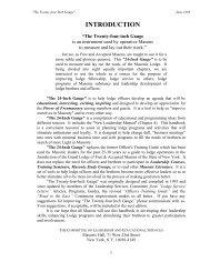 INTRODUCTION - The Masonic Trowel