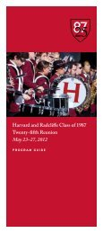 Harvard and Radcliffe Class of 1987 Twenty-fifth ... - Harris Connect