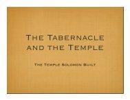 The Temple Solomon Built PPT - Woodland Oaks Church of Christ