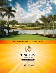 2012 ConClave RegistRation Catalog - American Gem Society