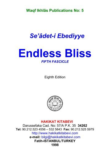 5-Endless Bliss Fifth Fascicle - Hakikat Kitabevi