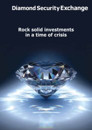 Rock solid investments in a time of crisis - Diamond Security Exchange