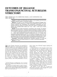 outcomes of 20-gauge transconjunctival sutureless vitrectomy