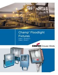 Champ® Floodlight Fixtures - Cooper Industries