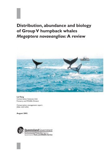 Distribution, abundance and biology of Group V humpback whales ...