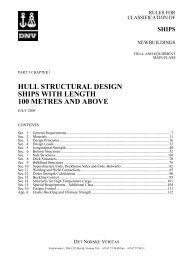Ship rules Pt.3 Ch.1 - Hull Structural Design, Ships ... - DNV Exchange