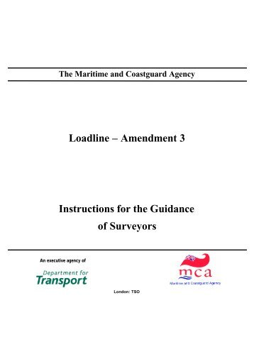 Amendment 3 Instructions for the Guidance of Surveyors - VeriSTAR