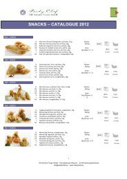 Catalogue multilanguage - Readychef Snacks ... - sieversfoods.de