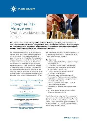 Enterprise Risk Management Wettbewerbsvorteile nutzen. - Kessler