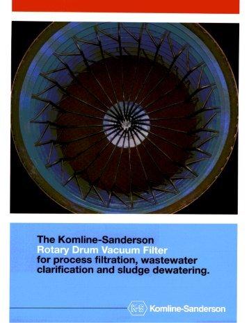Rotary Vacuum Filter Brochure - Komline-Sanderson