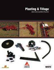Planting & Tillage - AGCO Parts