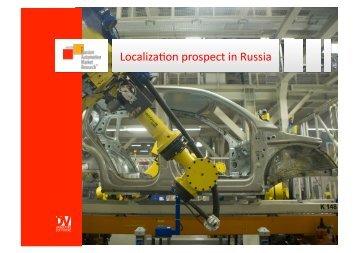Localiza on prospect in Russia - Automotive Supply Chain