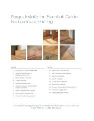 Pergo® Installation Essentials Guide For Laminate Flooring