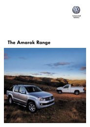 Download the Amarok brochure - Kinghorn Volkswagen