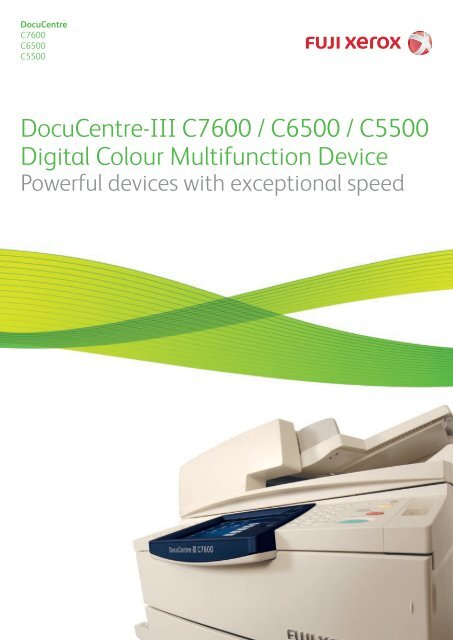 NEW DRIVER: DOCUCENTRE-III C6500