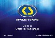 Fascia Signs Brochure - Kremer Signs
