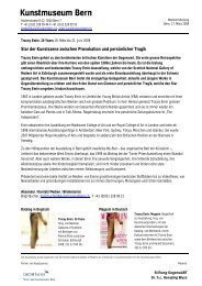 Download Medienmitteilung (pdf) - Kunstmuseum Bern