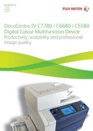 DocuCentre-IV C7780 / C6680 / C5580 Digital Colour Multifunction ...