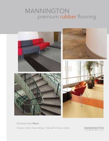 Premium Rubber Flooring Brochure - Mannington