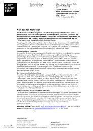 Medienmitteilung Albert Anker und Chantal ... - Kunstmuseum Bern