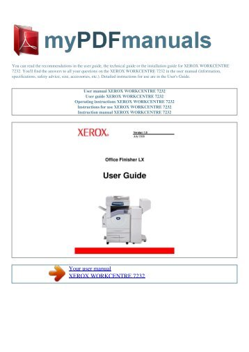 Xerox Workcentre Diagnostic Mode