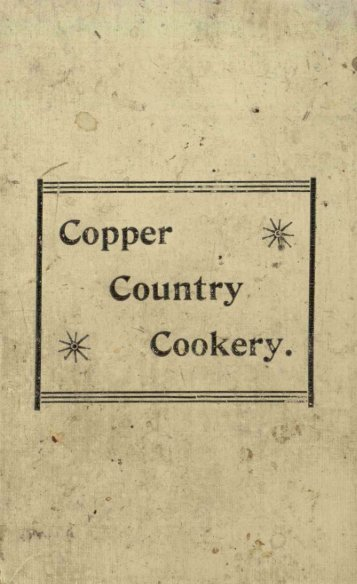Copper .~ .. ~ Cookery .