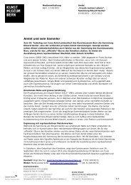Download Medienmitteilung Cuno Amiet (pdf) - Kunstmuseum Bern