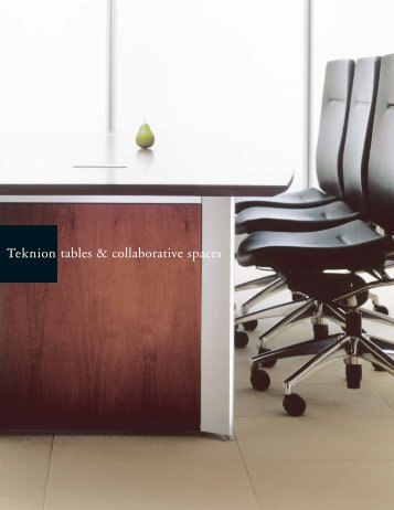 tables & collaborative spaces - Teknion