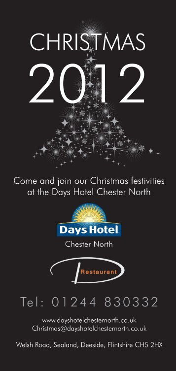 Download our Christmas 2012 Brochure - Days Hotel Chester North
