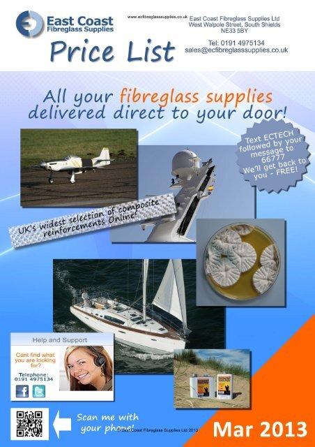 View or download our catalogue / pricelist  - East Coast Fibreglass