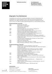 Biographie Yves Netzhammer (pdf) - Kunstmuseum Bern