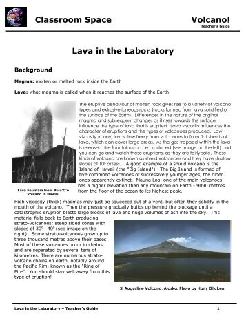 Classroom Space Volcano!