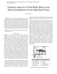 Vibration Analysis of Tread Brake Block in the ... - university press