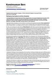 Communiqué de presse Expressionisme (pdf) - Kunstmuseum Bern