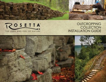 outcropping collection installation guide - Rosetta Hardscapes