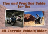 Tips and Practice Guide for the All-Terrain Vehicle Rider