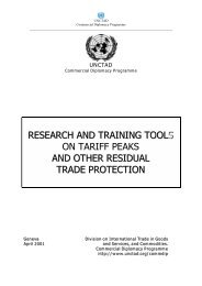 RESEARCH AND TRAINING TO LSS ON TARIFF PEAKS ... - Unctad