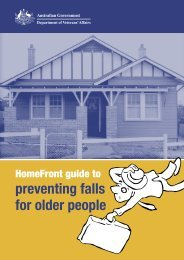 HomeFront Guide to Preventing Falls for Older People