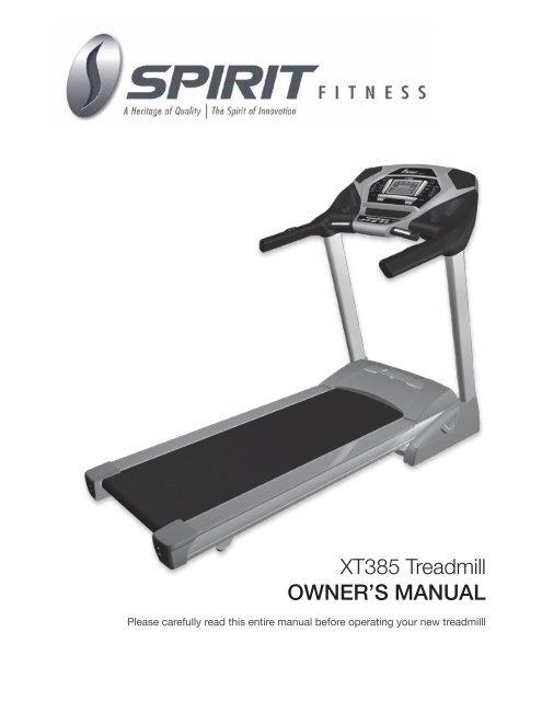 Cs800 treadmill owner's manual true fitness equipment.