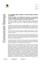 Comunicato Stampa - Spain