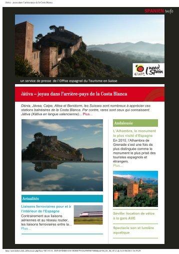 Játiva – joyau dans l'arrière-pays de la Costa Blanca - Spain