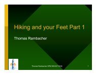Hiking and your Feet Part 1 - Dr. Thomas Rambacher
