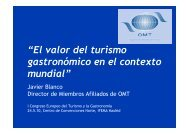 """""""El valor del turismo gastronómico en el contexto mundial"""" - Spain"""