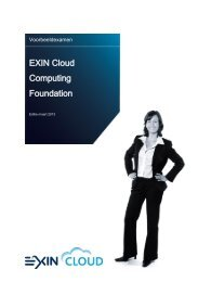 EXIN Cloud Computing Foundation
