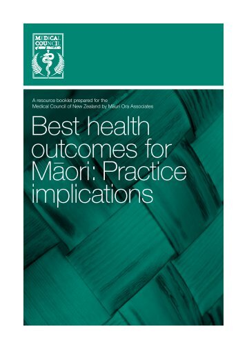 Best health outcomes for Maori - Medical Council of New Zealand
