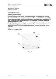 1 Safety instructions 2 Device components Blind ... - Download - Gira